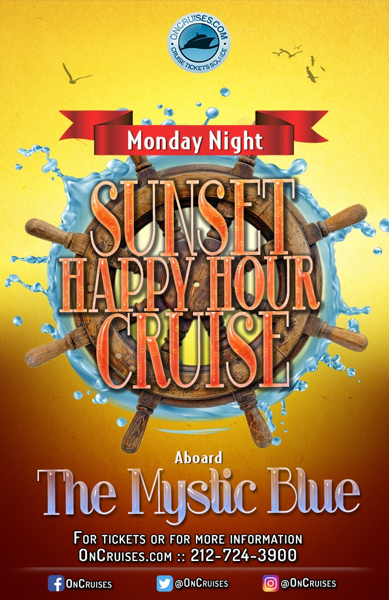 Monday Night Sunset Happy Hour Cruise Aboard the Mystic Blue Yacht - 6/17/2019