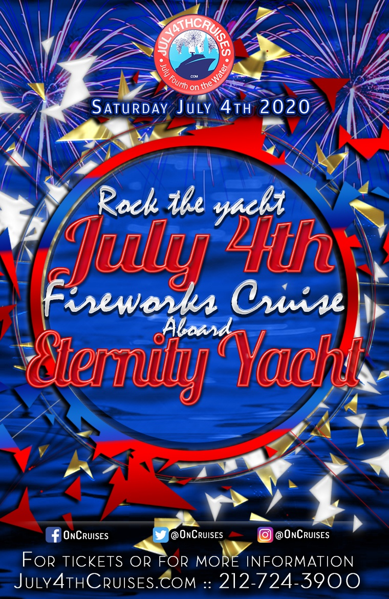 Rock the Yacht: July 4th Fireworks Cruise Aboard the Eternity Yacht