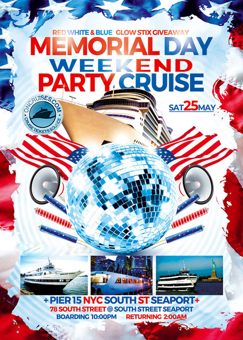 Serenity Yacht NYC Memorial Day Weekend Party Cruise NYC 2019