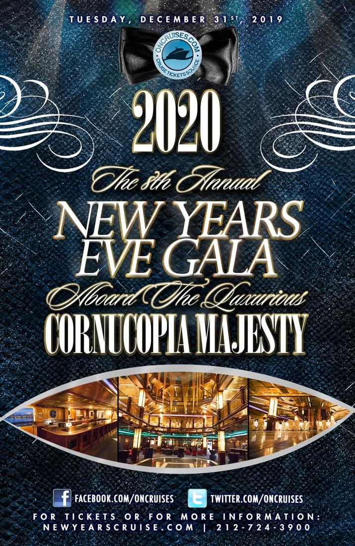 2020 New Year's Eve NYC Gala Aboard The Luxurious Cornucopia Majesty