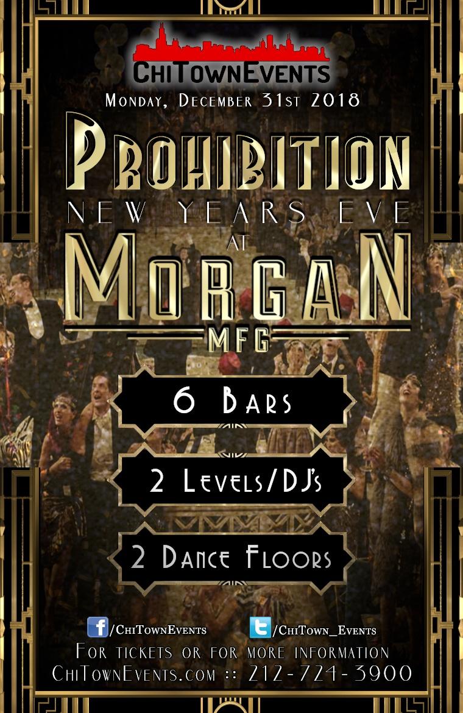 Prohibition New Year's Eve 2019 at Morgan MFG