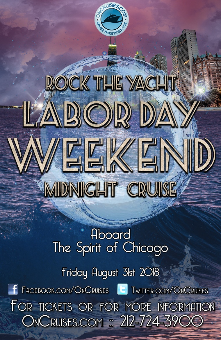 Rock the Yacht: Labor Day Weekend All White Midnight Yacht Party Aboard the Spirit of Chicago Yacht