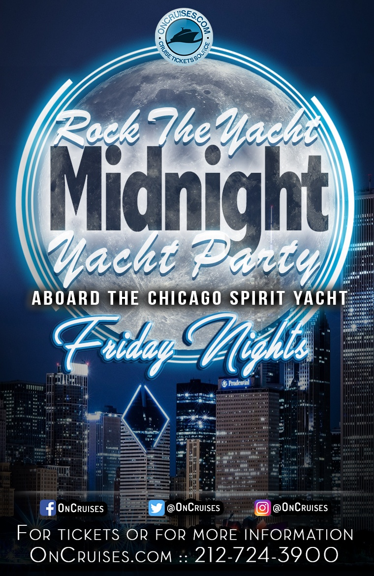 Rock the Yacht: Friday Midnight Yacht Party Aboard the Chicago Spirit - 8/28/2020