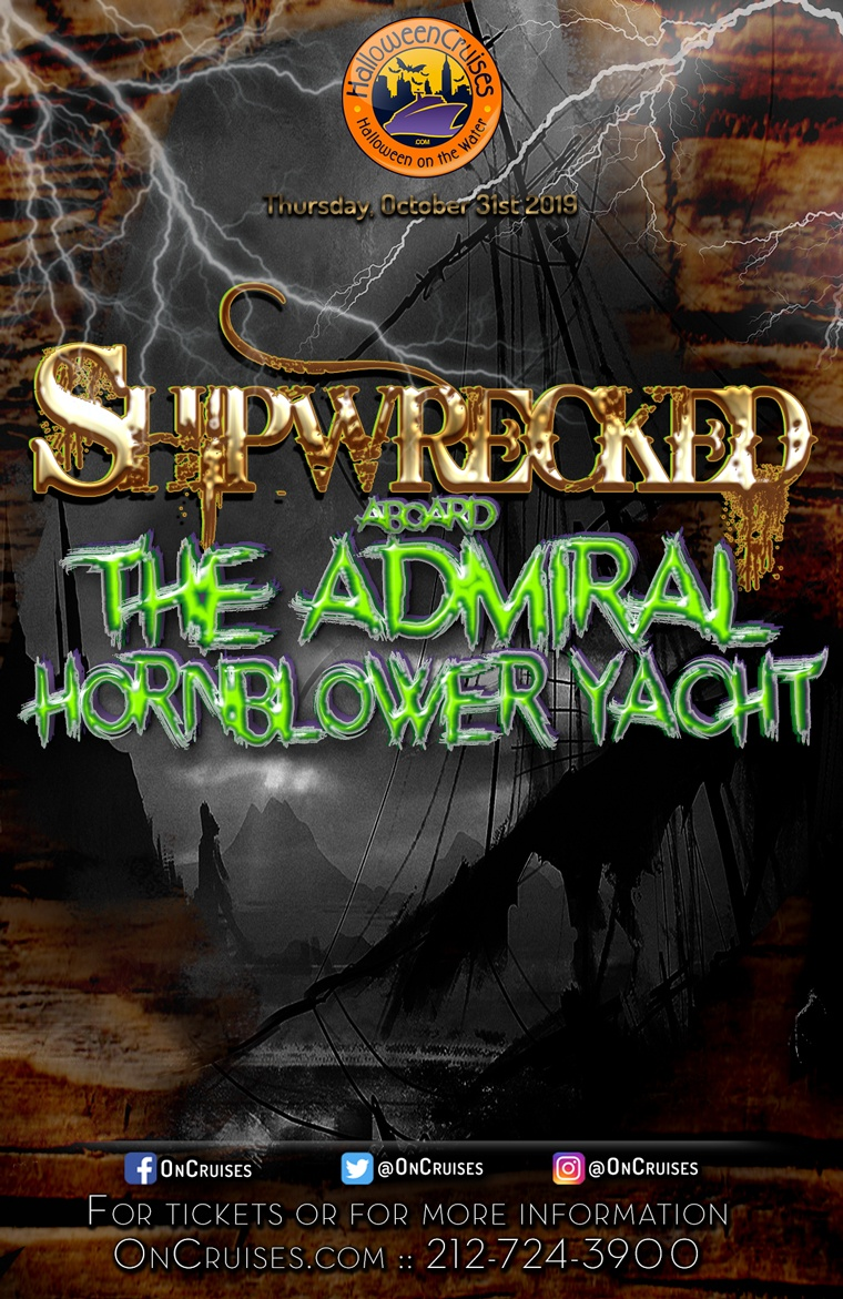 Shipwrecked Halloween Party Cruise Aboard the Admiral Hornblower Yacht