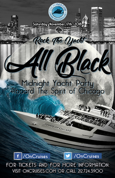 11/17 Rock the Yacht: All Black Midnight Yacht Party Aboard The Spirit of Chicago