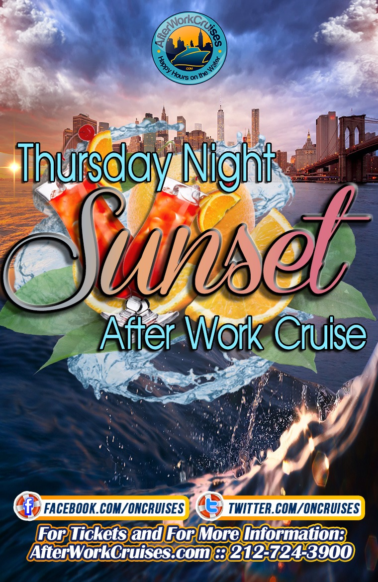 Thursday Night Sunset After Work Cruise- 6/27/2019