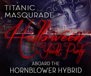 Titanic Masquerade Halloween Yacht Party Aboard the Hornblower Hybrid Yacht
