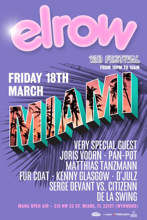 ELROW Miami w/ Joris Voorn, Pan-Pot, Matthias Tanzmann & More
