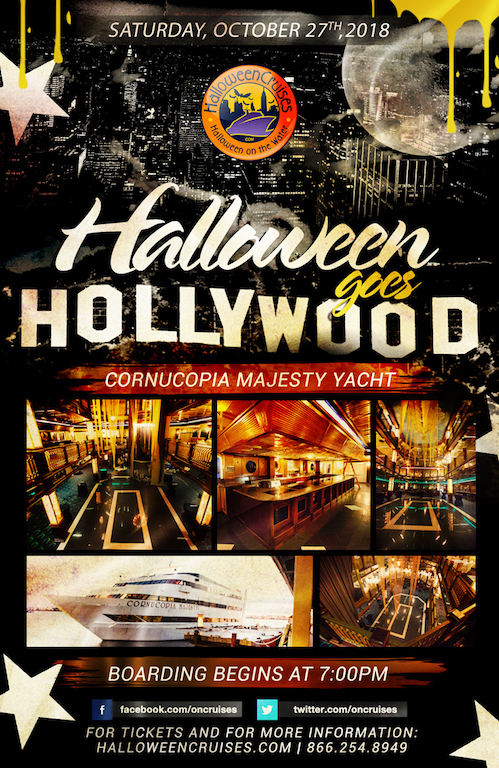 Halloween Goes Hollywood Aboard the Cornucopia Majesty Yacht