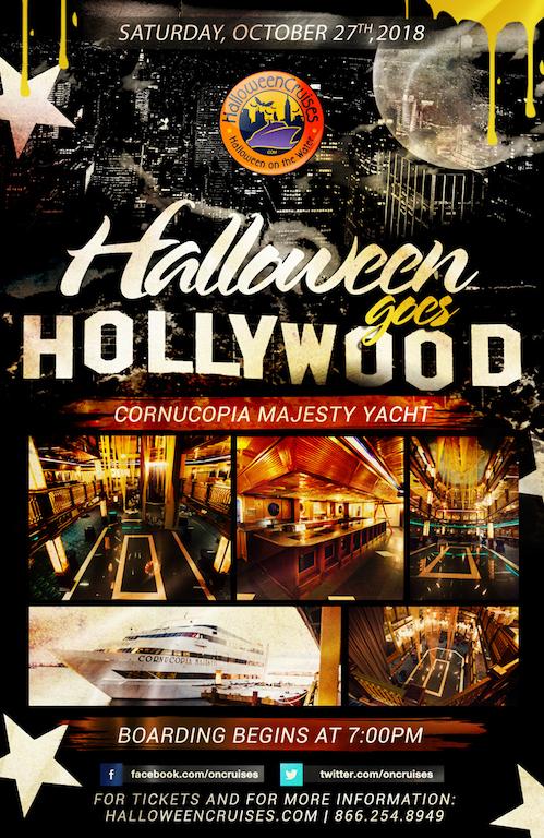 Halloween Goes Hollywood Aboard the Cornucopia Majesty Yacht