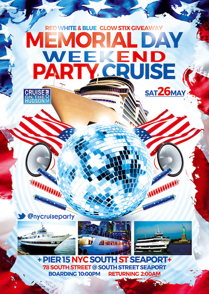 Serenity Yacht NYC Memorial Day Weekend Party Cruise NYC 2018