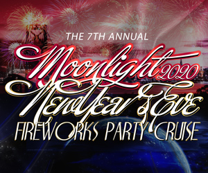 The 7th Annual Moonlight New Year's Eve Fireworks Party Cruise Aboard the San Francisco Spirit Yacht