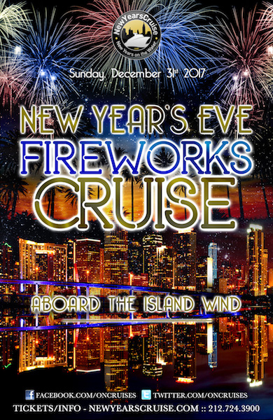 New Year's Eve Fireworks Party Cruise Aboard the Island Wind