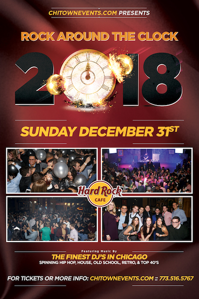 Rock Around the Clock NYE 2018 at The Hard Rock Cafe