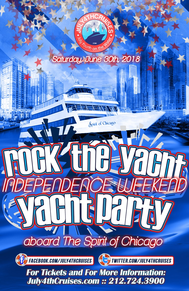 Rock the Yacht: Independence Weekend Yacht Party Aboard the Spirit of Chicago