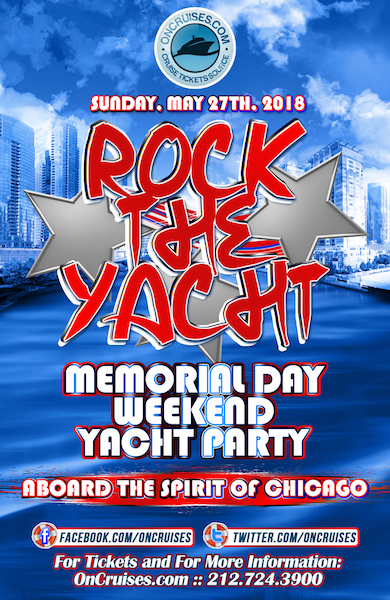Rock the Yacht: Memorial Day Weekend Yacht Party Aboard the Spirit of Chicago Yacht