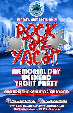 Rock the Yacht: Memorial Weekend Yacht Party Aboard the Spirit of Chicago Yacht