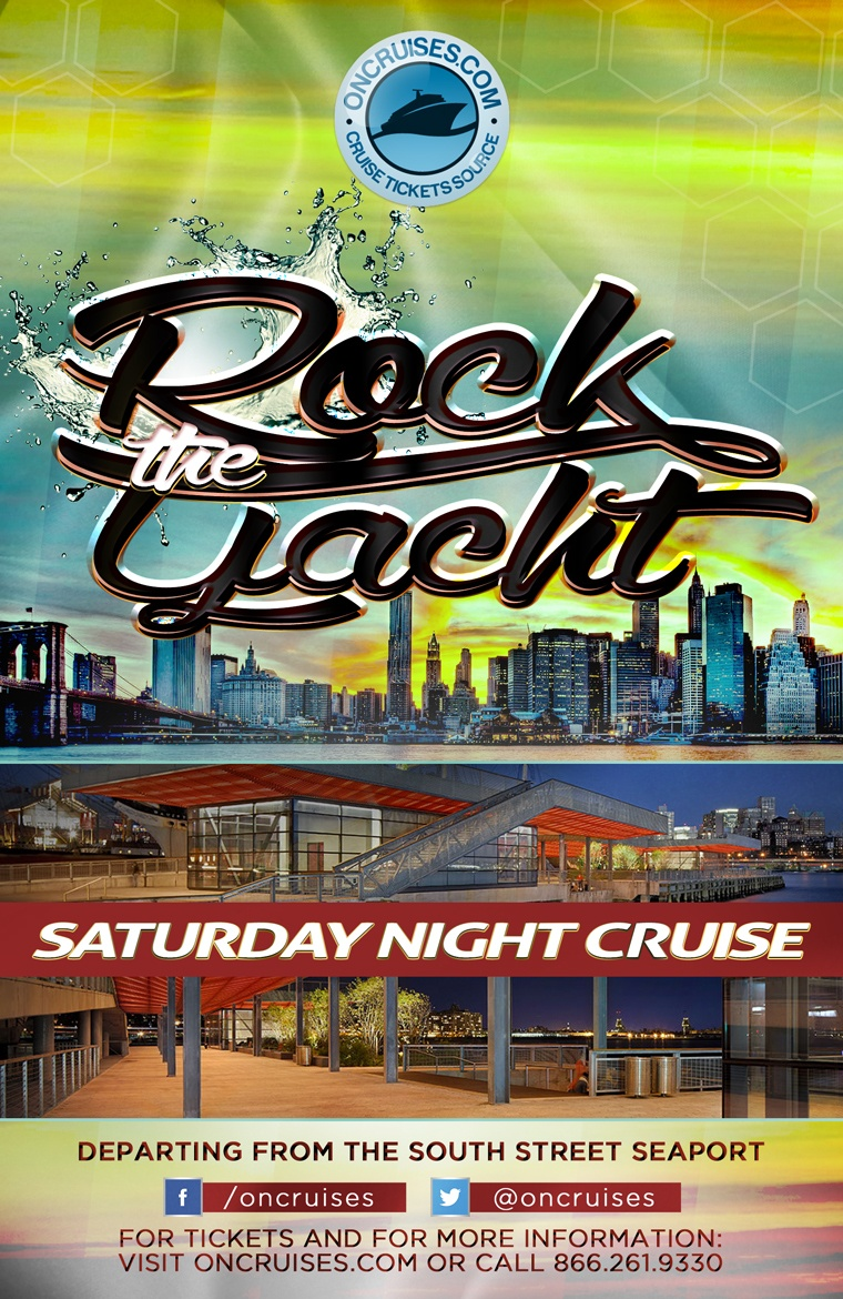 Rock the Yacht Saturdays! New York City Party Cruise 2020 - 8/8/2020
