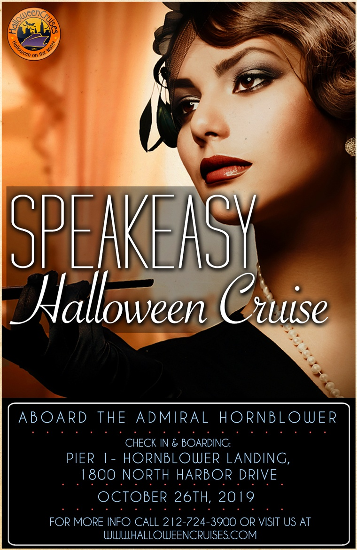Speakeasy Halloween Party Cruise Aboard the Admiral Hornblower Yacht