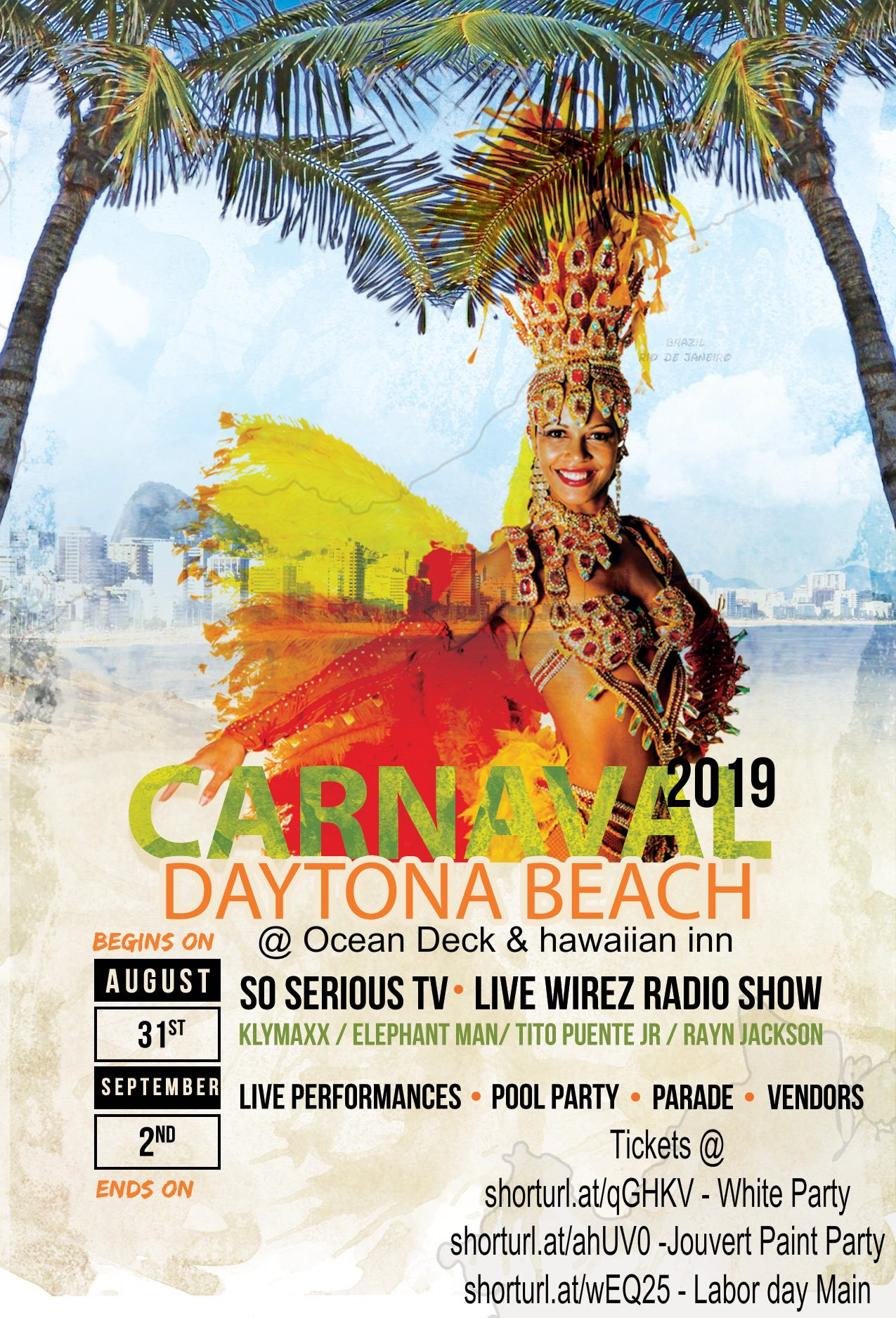 WHITE PARTY HAWAIIAN INN - DAYTONA BEACH CARNAVAL