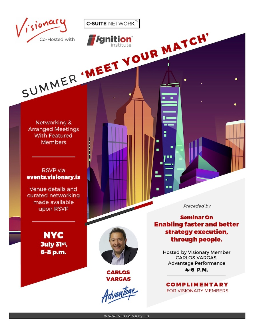 Visionary Co-Hosted NYC 'Meet Your Match'