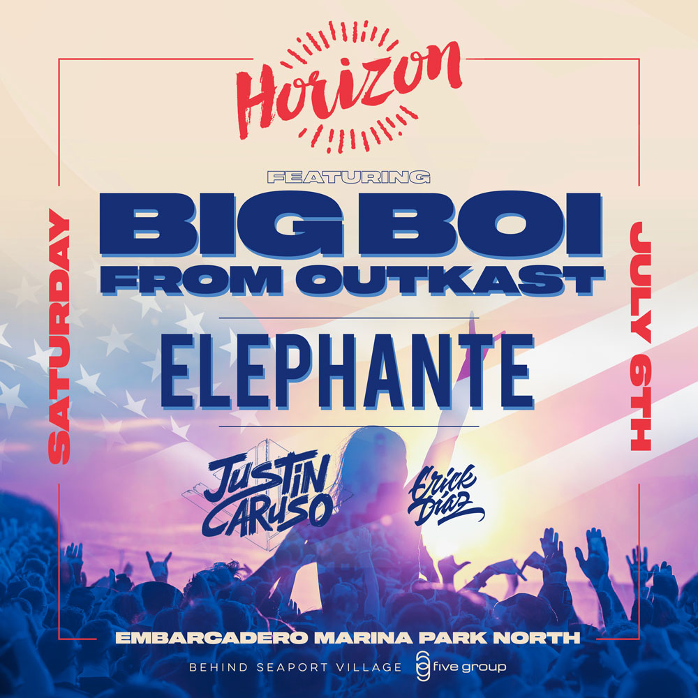 Horizon Music Festival Featuring BIG BOI of OUTKAST & Elephante (Independence Weekend)