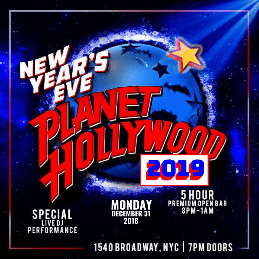 Planet Hollywood NYE 2019
