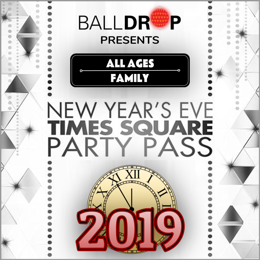 Times Square Family Party Pass NYE 2019