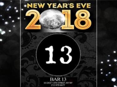Bar 13 NYE 2018