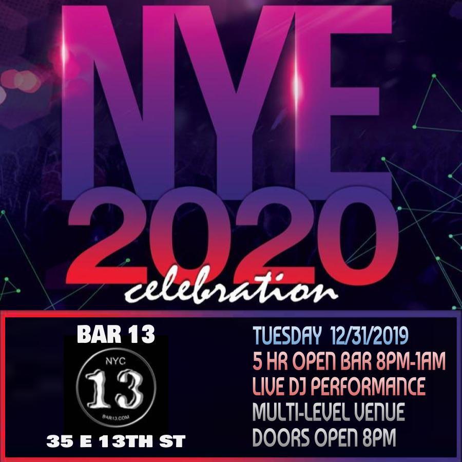 Bar 13 NYE 2020