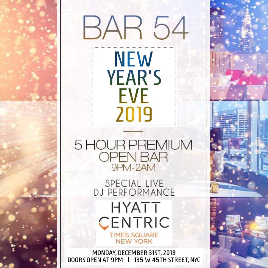 Bar 54 NYE 2019