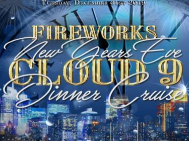 New Year's Eve Fireworks Dinner Cruise Aboard the Cloud 9 Yacht