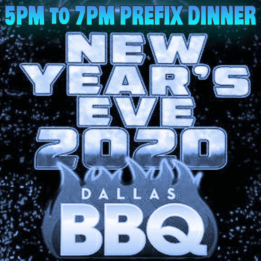 5pm-7pm Dinner @ Dallas BBQ NYE 2020
