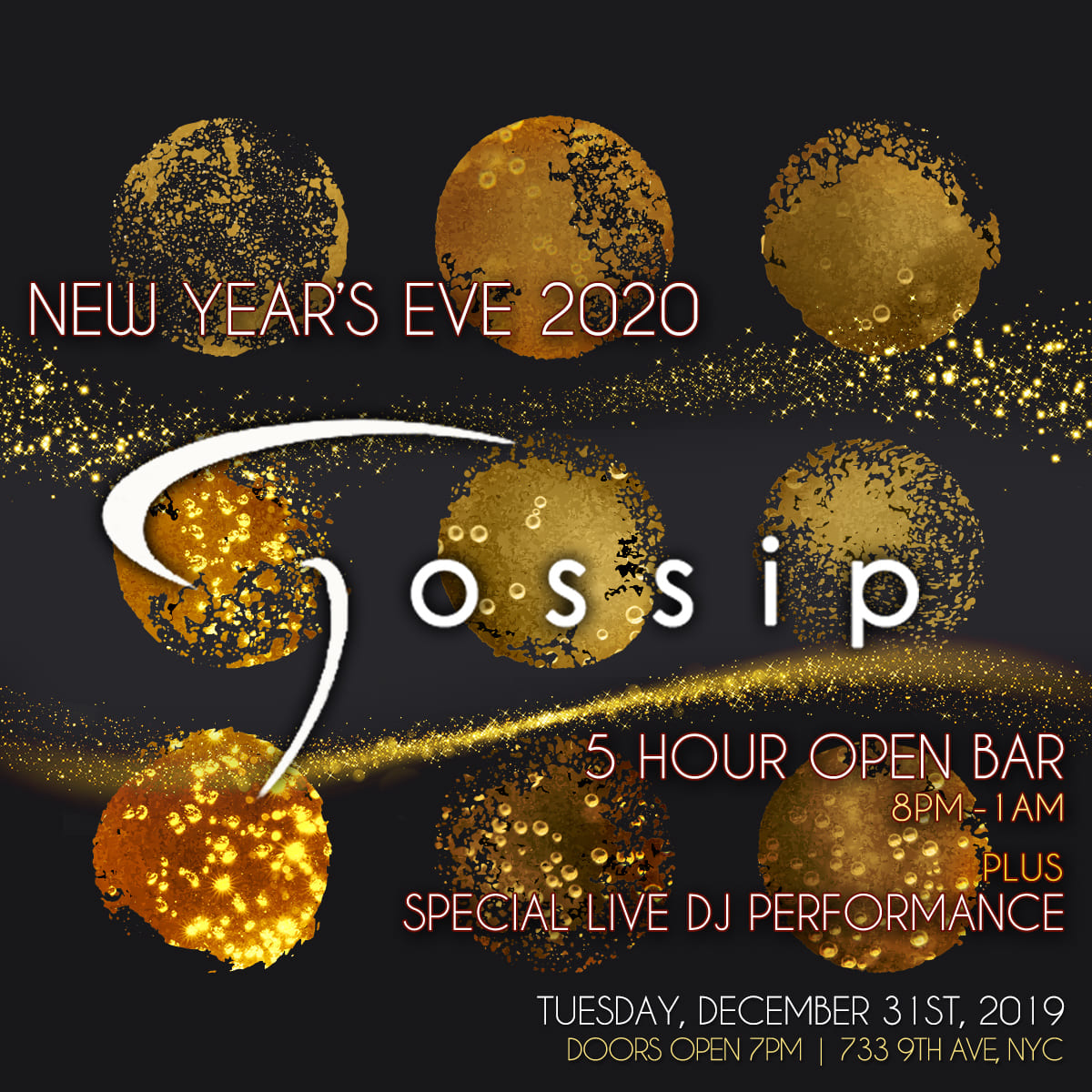 Gossip Bar NYE 2020