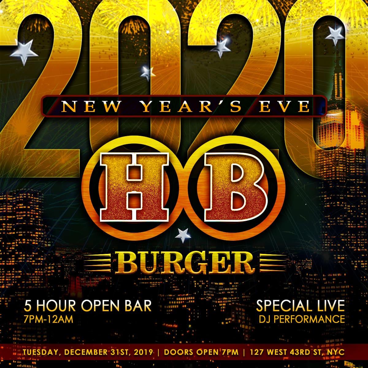 HB Burger NYE 2020