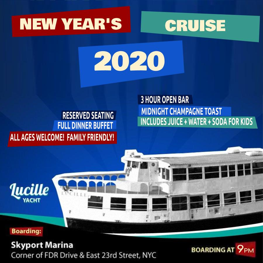 Lucille Yacht Cruise NYE 2020