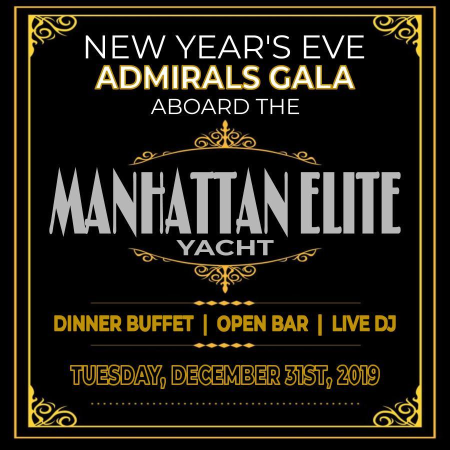 New Year's Eve Admirals Gala Aboard the Manhattan Elite