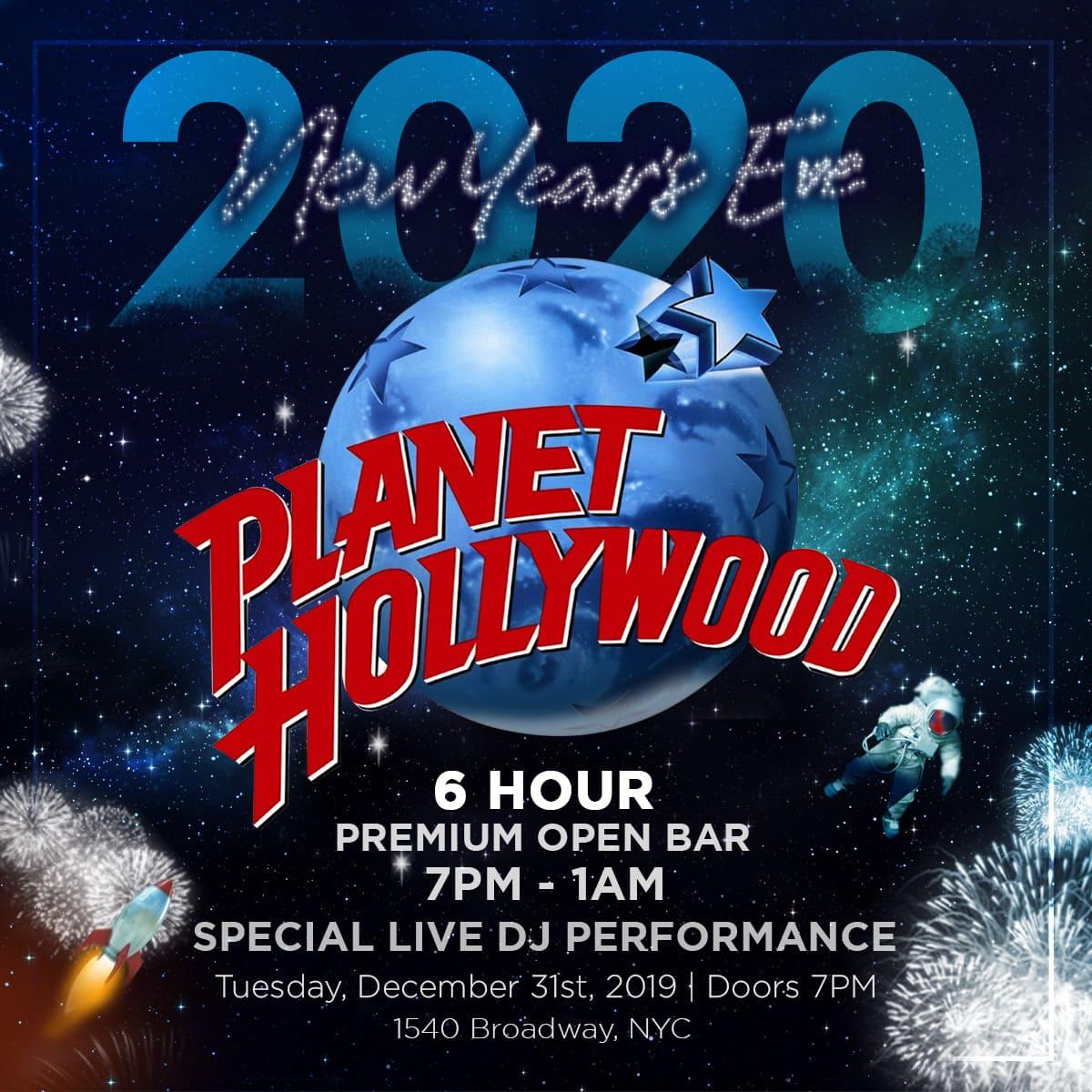 Planet Hollywood NYE 2020