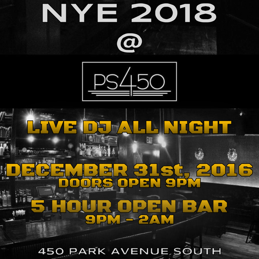 PS 450 New Years Eve 2018