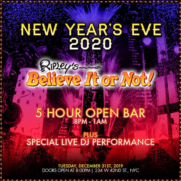 Ripley's Believe It Or Not! NYE 2020