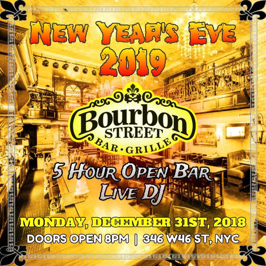 Bourbon Street NYE 2019