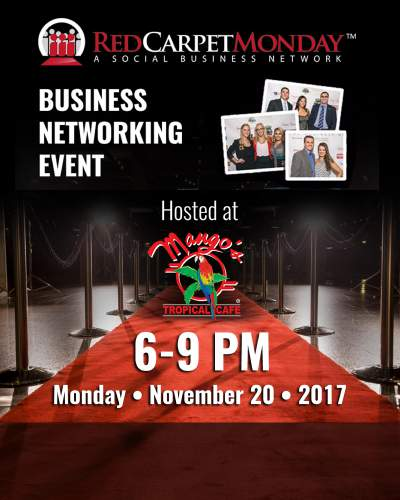 RedCarpetMonday Orlando Business Networking Event hosted at Mango's
