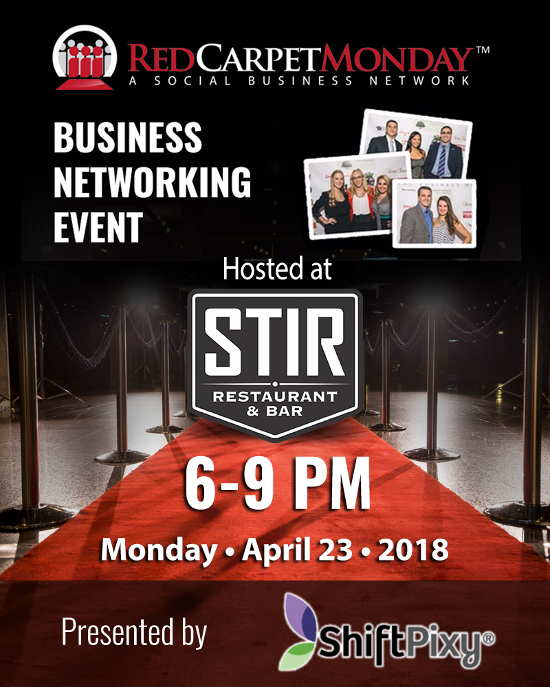 RedCarpetMonday Orlando Business Networking Event hosted at STIR Restaurant & Bar