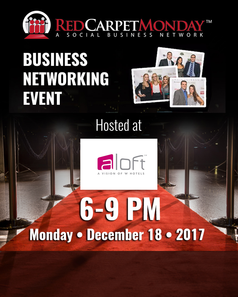 RedCarpetMonday Orlando Business Networking Event hosted at Aloft Downtown