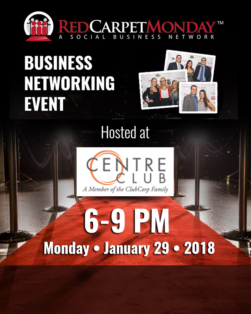 RedCarpetMonday Tampa Business Networking Event hosted at Centre Club