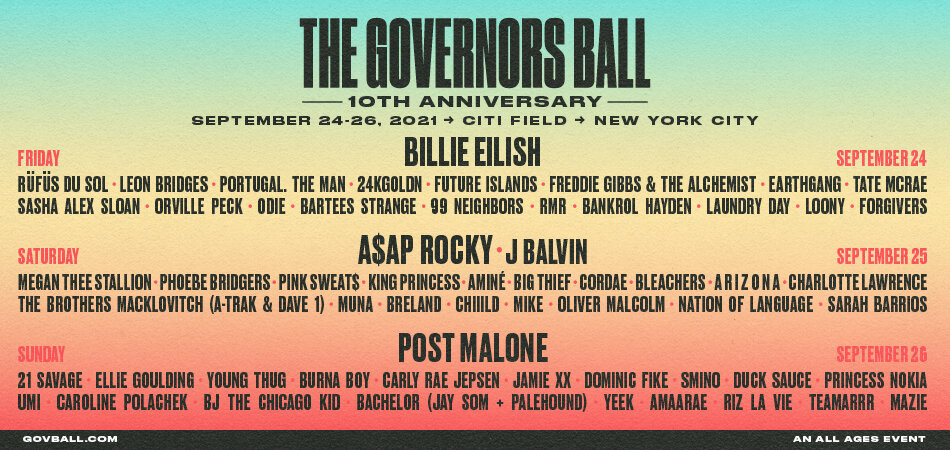 The Governors Ball 2021 Locker Rental