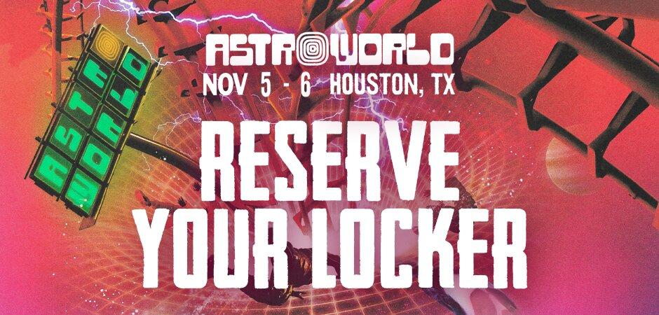 Astroworld Fest Locker Rental 2021