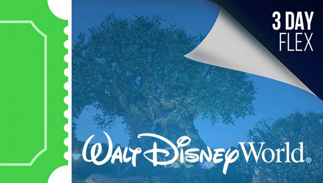 3 Day Disney Flexible Date Tickets