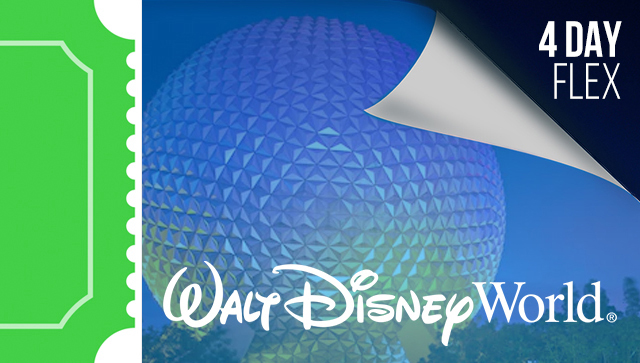 4 Day Disney Flexible Date Tickets