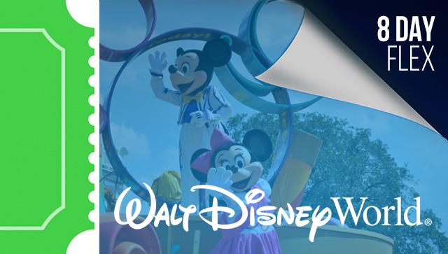 8 Day Disney Flexible Date Ticket